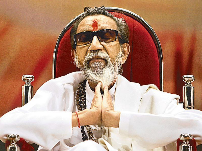 Shiv Sena supremo Bal Thackeray is seen during a function organised to celebrate the 41st foundation day of his party in Mumbai. HT