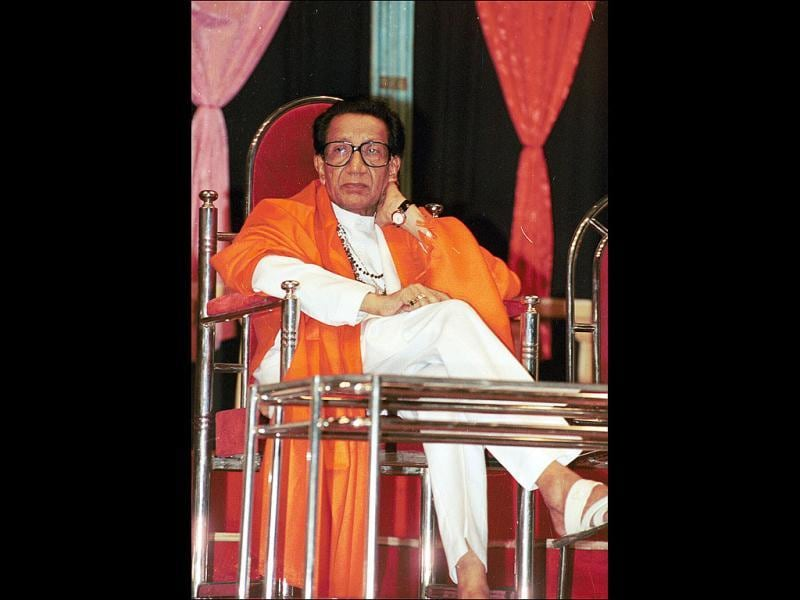 Shiv Sena chief Bal Thackeray is seen during the 41st anniversary celebrations of his magazine Marmik in Mumbai. HT