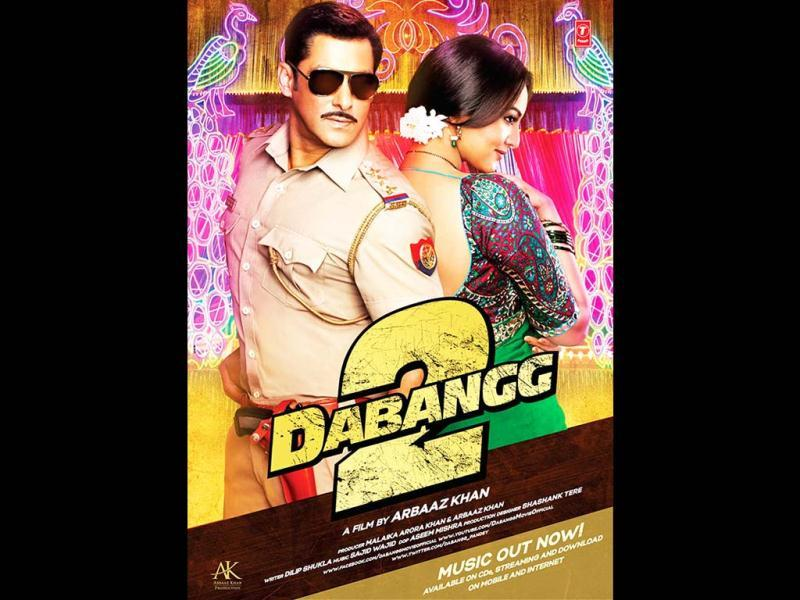 Salman and Sonakshi in a still from Dabangg 2.