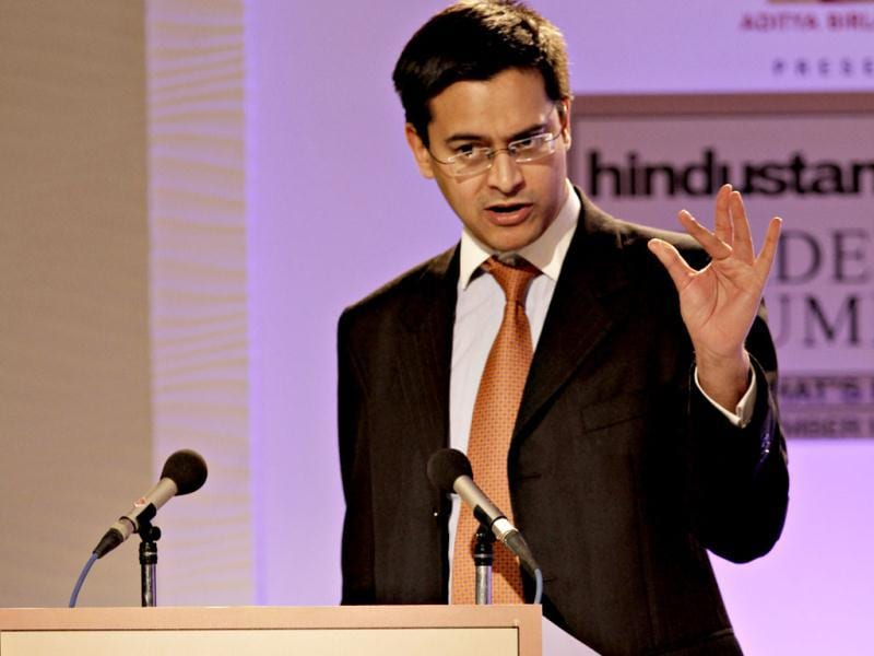 Professor Rana Mitter, professor of the History and Politics of Modern China, University Of Oxford during the second day of the Hindustan Times Leadership Summit in New Delhi. HT/Jasjeet Plaha