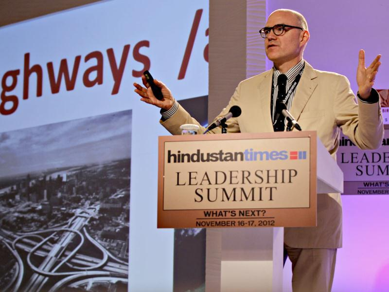 Christopher Choa, principal with AECOM Design and Planning during the second day of the Hindustan Times Leadership Summit in New Delhi. HT/Jasjeet Plaha