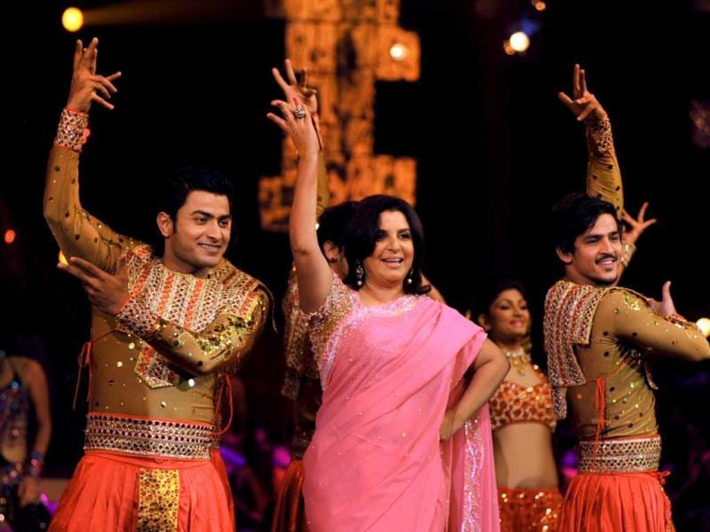 Farah Khan during a dance performance.