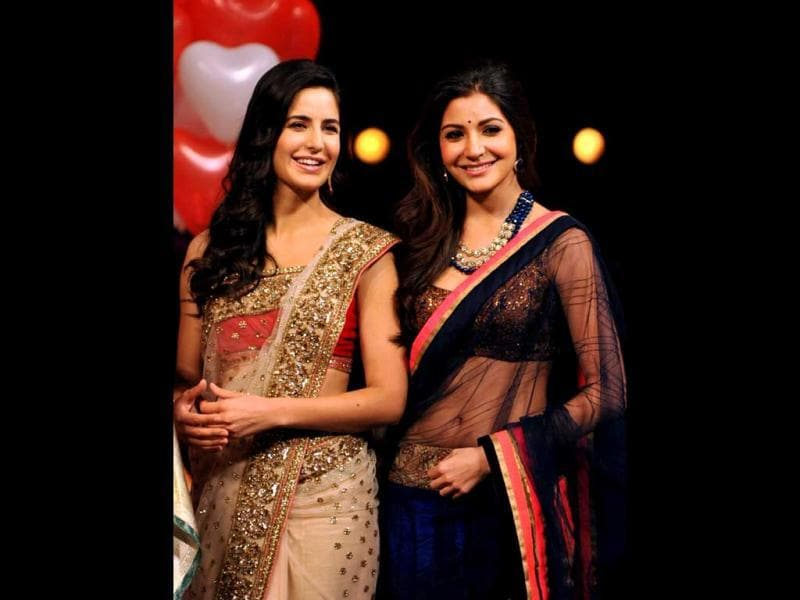 Katrina Kaif and Anushka Sharma look gorgeous in ethnic ensembles.