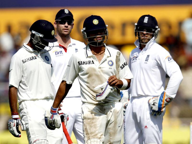 Virat Kohli and England players argue during the final day of first Test match at Sardar Patel Stadium in Motera, Ahmadabad. HT/Mohd Zakir