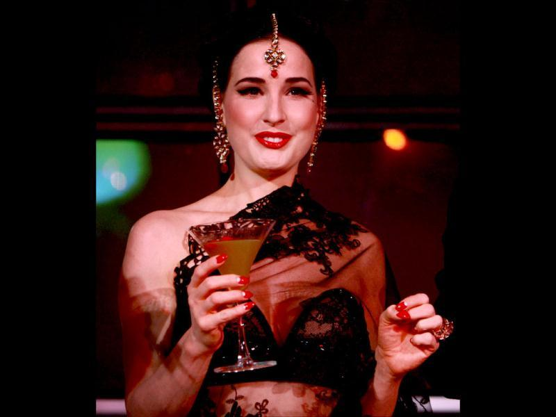 American actress Dita Von Teese, better known as the queen of burlesque, was recently in India to promote liqueur brand Cointreau. Well, she sure seems to be enjoying her drink!