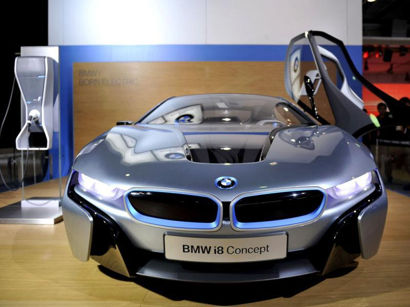 A BMW concept car on display at the 10th China (Guangzhou) International Automobile Exhibition in Guangzhou, east China's Guangdong province. AFP
