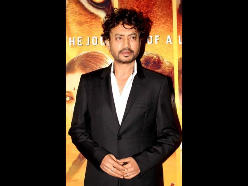 Indian Bollywood actor Irfan Khan poses as he attends a special screening of the film Life of Pi?in Mumbai.