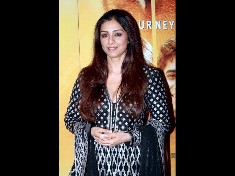 Tabu arrives at the premiere of the film Life of Pi?in Mumbai.