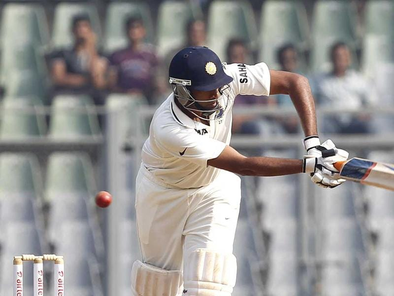 R Ashwin plays a shot during 2nd day of 2nd test cricket match between India vs England at Wankhede stadium, in Mumbai. Hindustan Times
