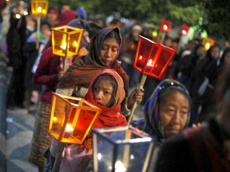 Women walk with lanterns during an annual demonstration to commemorate the International Day for the Elimination of Violence against Women, in Guatemala City. Reuters Photo