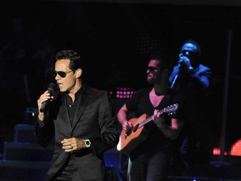 Singer Marc Anthony of the US performs during the GIGANT3S concert at the Olympic Stadium in Santo Domingo. Reuters Photo