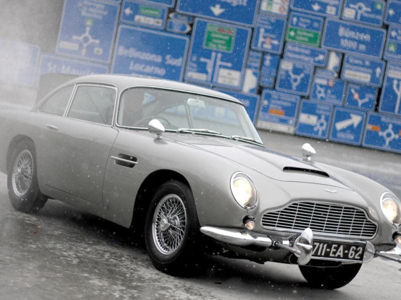 The 1964 Aston Martin DB5, made famous in the James Bond movies Goldfinger and Thunderball which featured Scottish actor Sean Connery, is displayed for the first time since a total restoration at the Transport Museum in Luzern. Reuters file photo