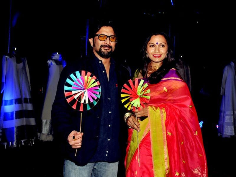 Arshad Warsi poses with his wife Maria Goretti as they attend Chivas Studio 2012 event. (AFP Photo)
