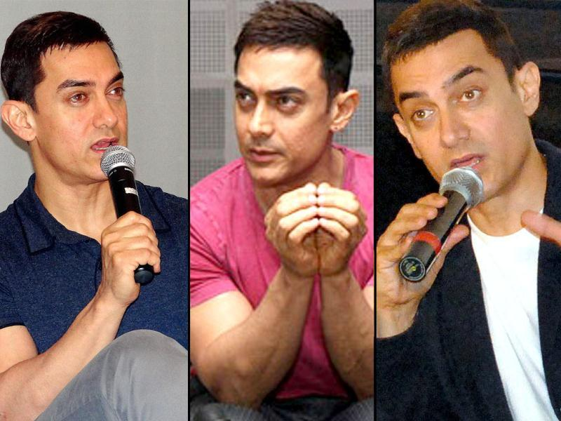 Bollywood actor Aamir Khan was spotted talking rather passionately about his upcoming film Talaash at various press conferences across the country. Take a look.