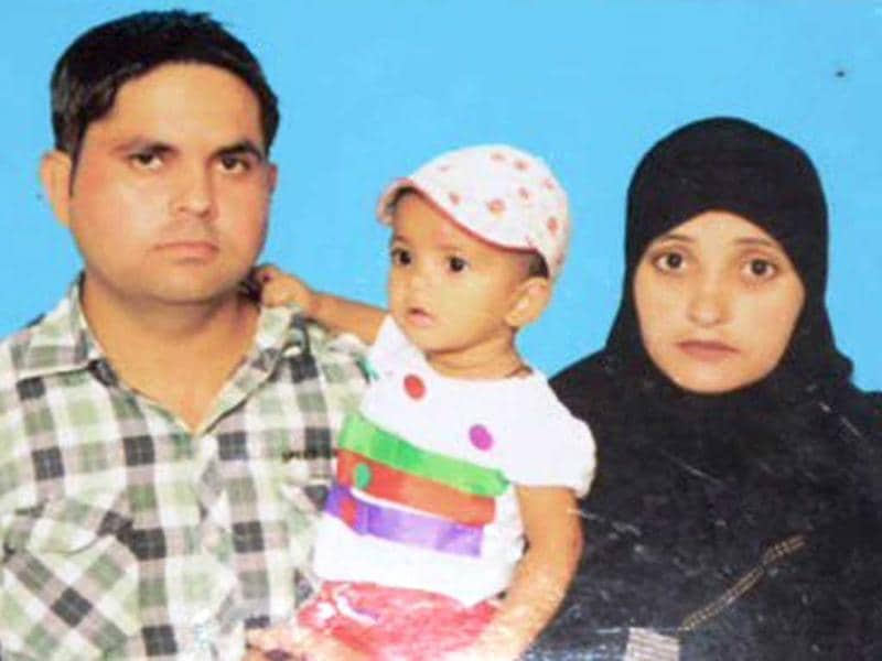File photo of Abdul Hakim and his family. HT photo