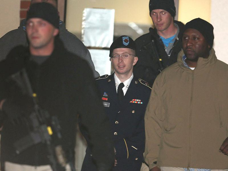 Bradley Manning to testify for first time in WikiLeaks pre-trial hearing in Fort Meade, Maryland. Bradley E Manning is escorted from a hearing. AFP Photo