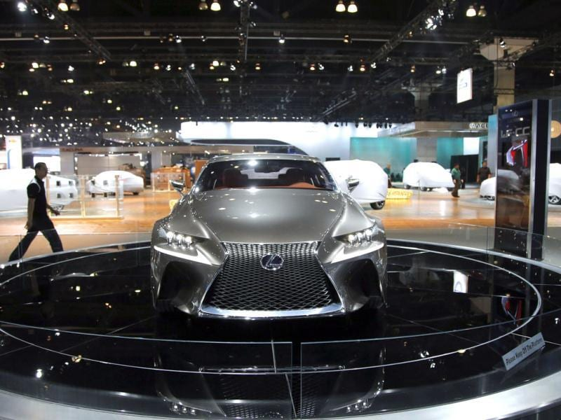 The Lexus LF-CC concept car is seen at the Los Angeles Auto Show in Los Angeles. AP Photo