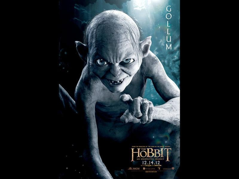 Sly and slimy Gollum will be seen in this LOTR franchise The Hobbit too.