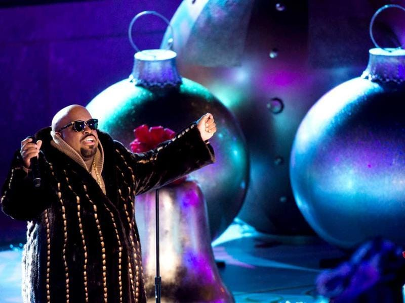 CeeLo Green performs at the 80th annual Rockefeller Center Christmas tree lighting ceremony in New York. AP