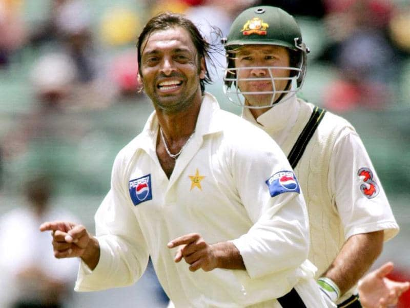 Ponting highest Test score is 257, with an average of 52.21 runs. In this file photo, Pakistan speedster Shoaib Akhtar celebrates dismissing Australian captain Ricky Ponting at the MCG in Melbourne, 27 December 2004. (AFP Photo)