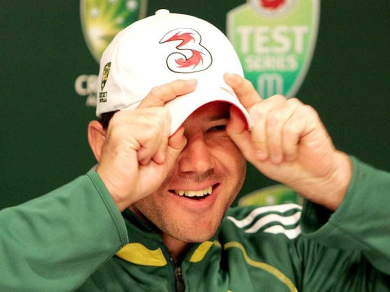 Ricky Ponting has a current strike-rate of 58.74, with 41 Test centuries. In this file photo, Ponting laughs as he adjusts his cap during a press conference at Bellerive oval in Hobart. (AFP Photo)