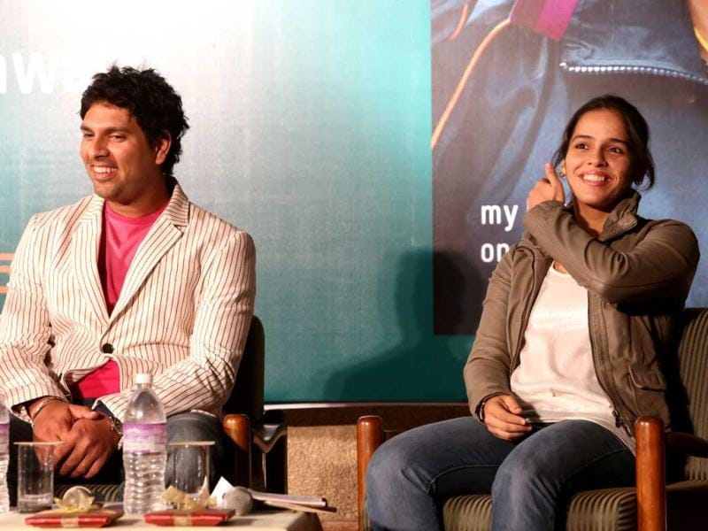 Saina thanked Yuvraj who launched Saina's autobiography.