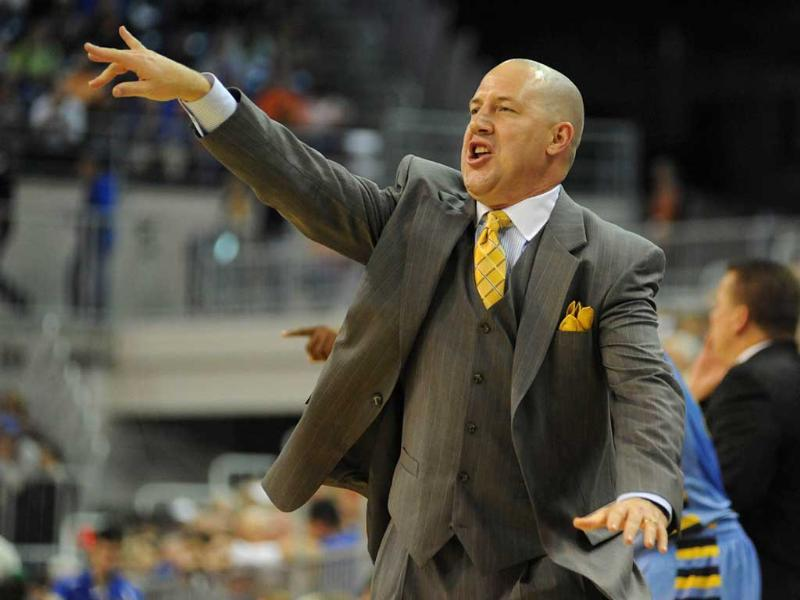 Coach Buzz Williams of the Marquette Golden Eagles against the Florida Gators at Stephen C. O'Connell Center in Gainesville, Florida. AFP