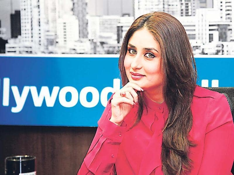 Kareena Kapoor looks pretty in a formal dark pink shirt over black pants. (Photo: Saroj Kumar Dora, Prodip Guha)