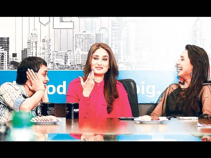 Reema Kagti, Kareena Kapoor and Rani Mukerji caught in a candid moment. (Photo: Saroj Kumar Dora, Prodip Guha)
