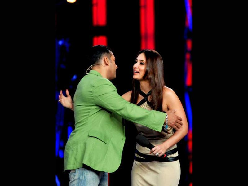 Kareena clearly has a great rapport with Salman Khan.