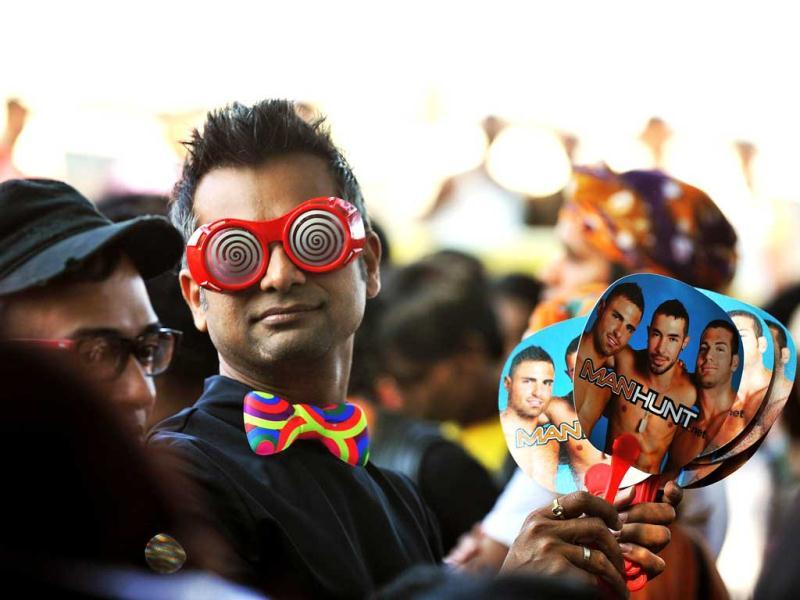 Members of the LGBT community take part in the Bangalore Queer Pride Parade 2012. AFP Photo