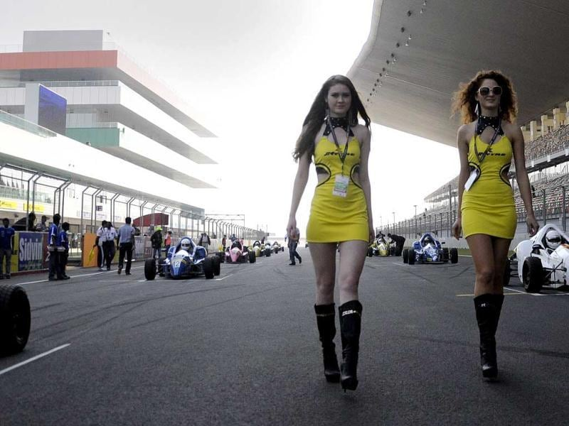 Scenes from the SIDVIN Festival of Speed held at the Buddh International Circuit in New Delhi. (HT Photo/Saarthak Aurora)