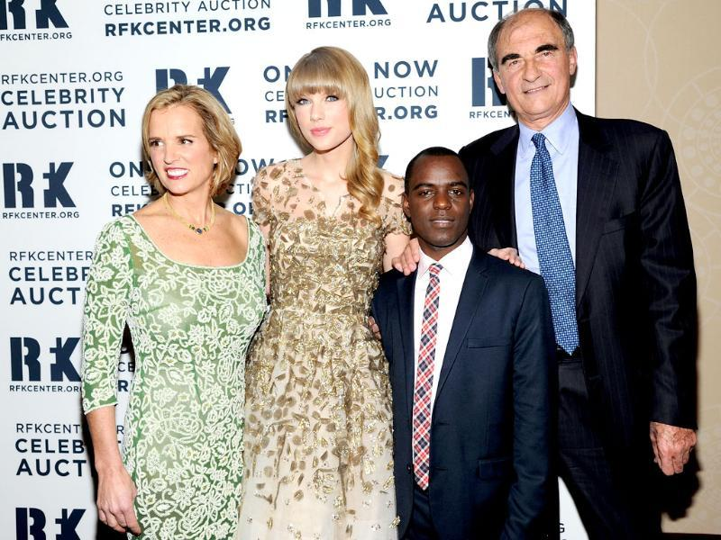 Kerry Kennedy, Taylor Swift, Frank Mugisha and Vincent Mai attend the Robert F Kennedy Center for Justice and Human Rights 2012