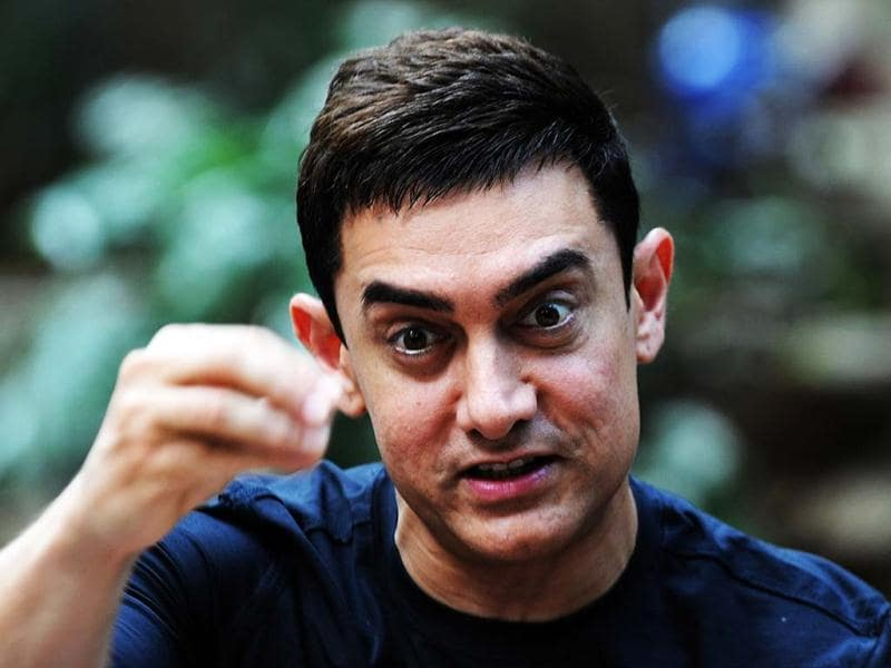 Aamir Khan certainly has a mischievous glint in the eye as he addresses the media during Talaash promotions at his residence.