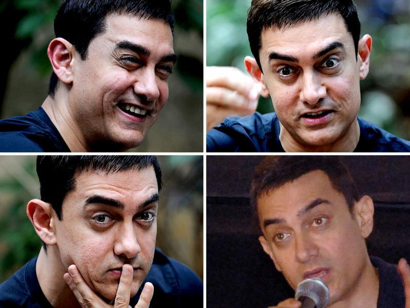 Aamir Khan is a treat for photographers! Not just because he's good looking, one of the A-listers of Bollywood but also because he provides such a variety of expressions and emotions for the paparazzi. Don't believe us, check him out yourself.