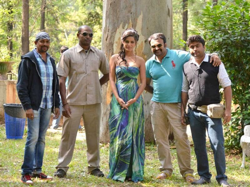 Poonam Pandey alongwith the cast and crew of Nasha.