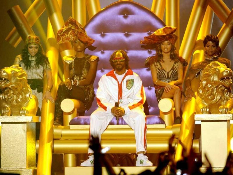 Snoop Lion performs on stage at Spike's 10th Annual Video Game Awards at Sony Studios in Culver City, Calif. AP Photo