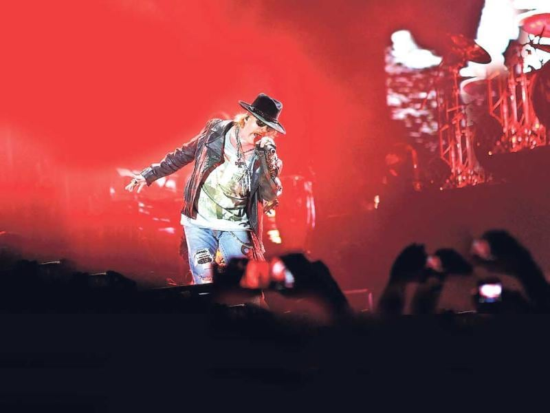 Axl Rose, the lead vocalist of the band, rocked Mumbai with his performances.