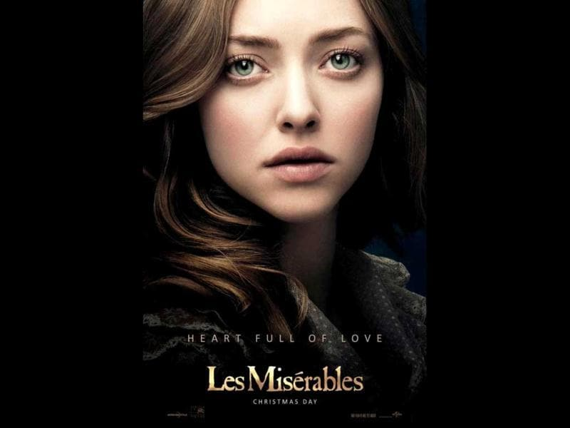 Amanda Seyfried plays Fantine's innocent daughter Cosette.