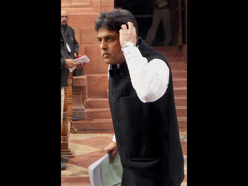 The Congress criticised the BJP over stalling the Parliament on Walmart lobbying issue. Information and broadcasting, minister Manish Tewari said if the BJP or anybody else has any evidence, it should have been made public. (PTI Photo)