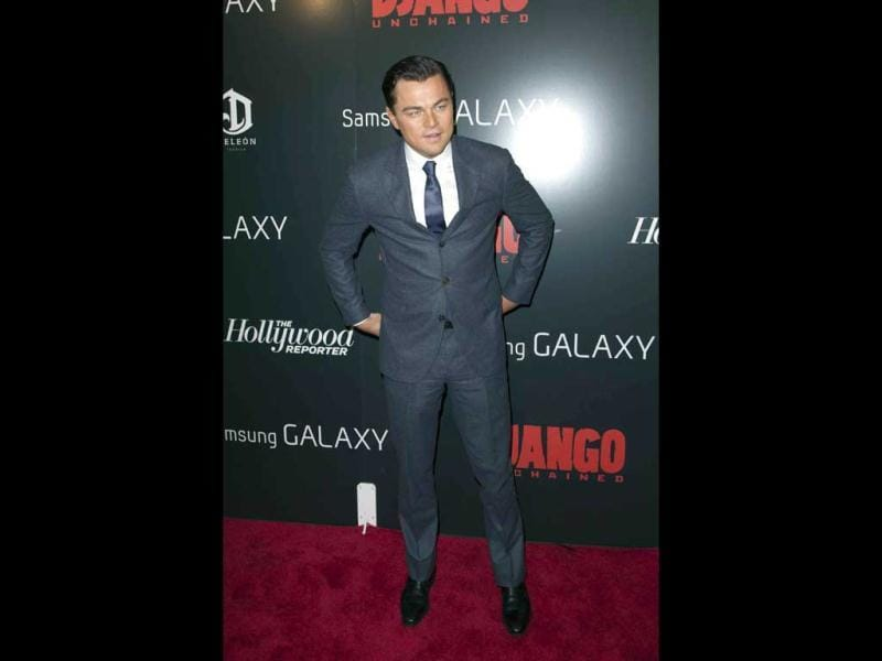 Actor Leonardo DiCaprio attends the 'Django Unchained' premiere in New York. (Reuters)