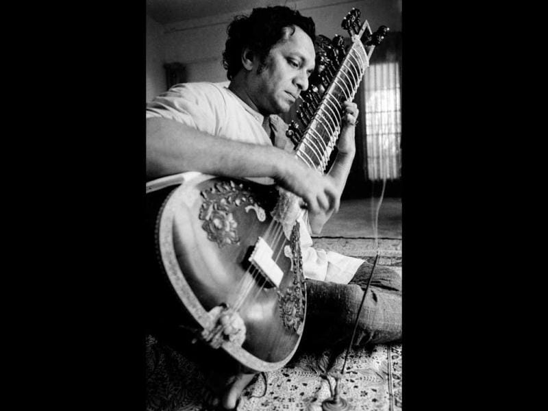 In this 1967 file photo, Ravi Shankar plays his sitar in Los Angeles. (AP Photo)