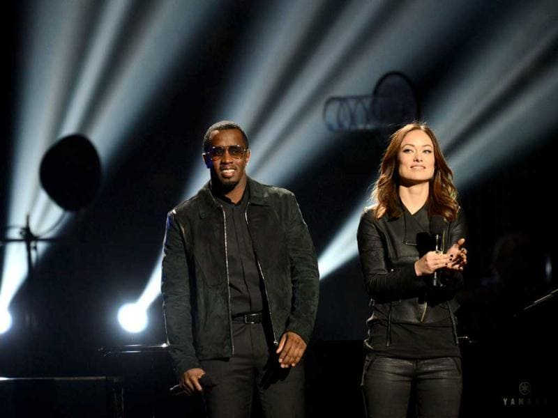 Diddy (L) performs during '12-12-12 The Concert For Sandy Relief' at Madison Square Garden in New York. AFP