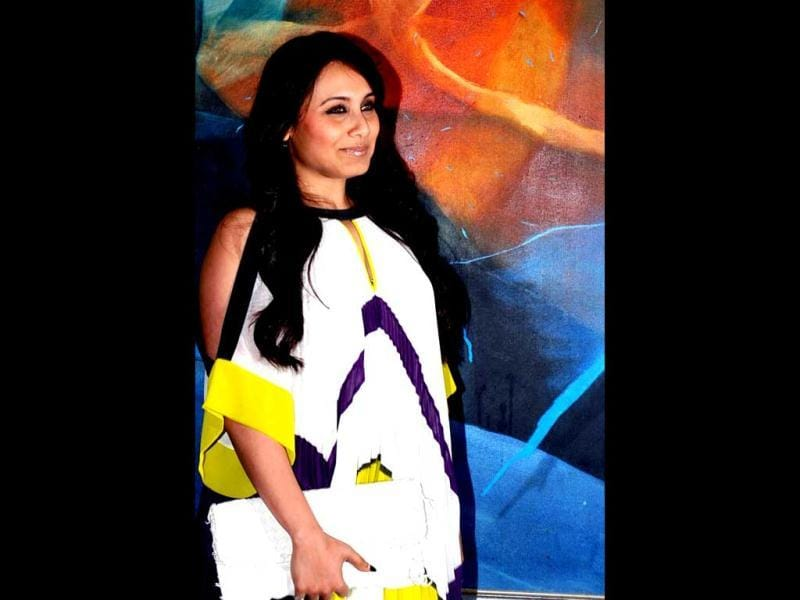 Rani Mukerji looks nice and graceful in a flowing dress at a Talaash success party.