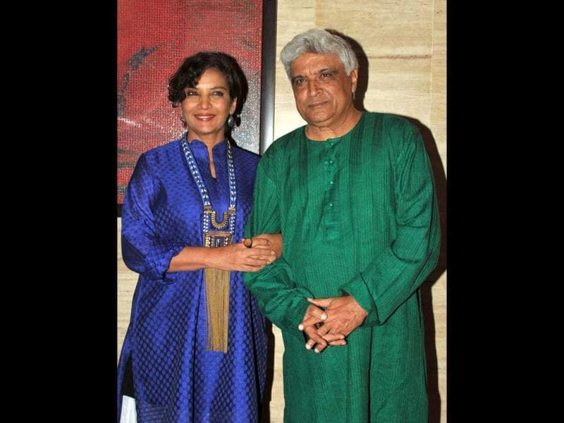 Javed Akhtar and Shabana Azmi were also seen at the Talaash success party.