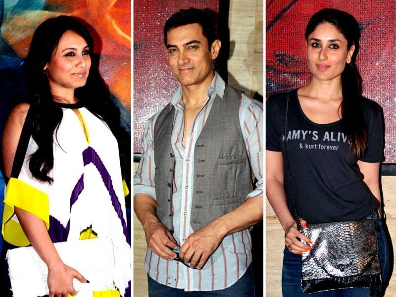 Talaash is already a hit so it's obviously time to celebrate. Rani Mukerji, Aamir Khan and even Kareena Kapoor, who had been missing from the premieres and promotions of the film, were finally seen letting their hair down. Take a look