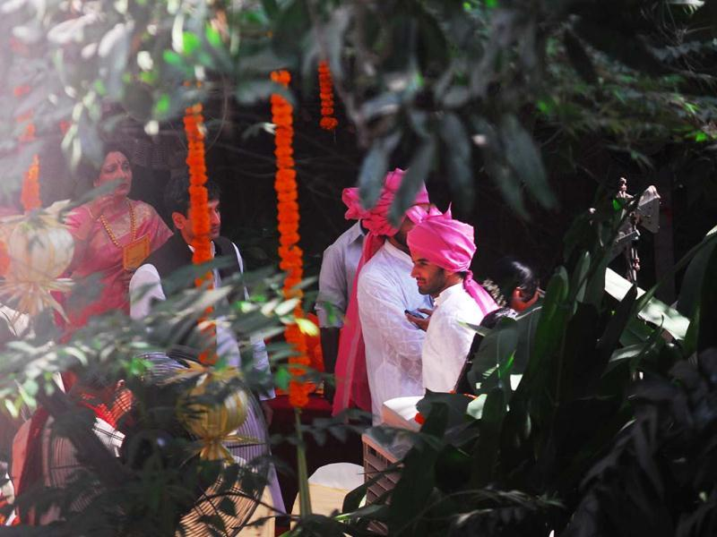 Siddharth Roy Kapur dressed as a groom at the venue. (Photo by Pradip Guha)