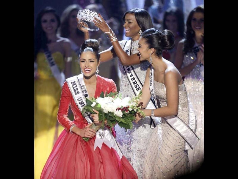 Miss USA, Olivia Culpo, is crowned Miss Universe during the Miss Universe competition in Las Vegas. AP Photo