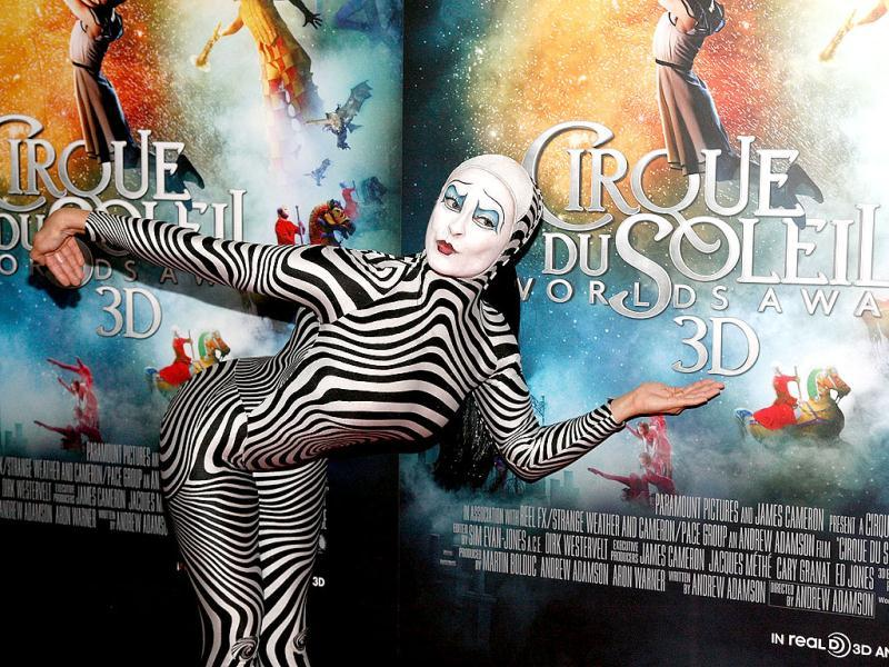 A performer attends Cirque Du Soleil: Worlds Away New York Special Screening at Regal E-Walk in New York City. AFP Photo