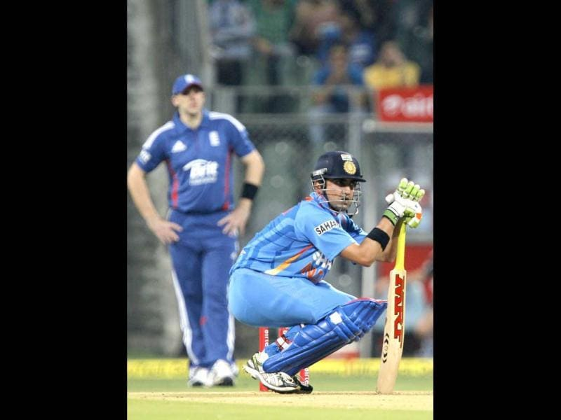Gautam Gambhir is seen during the second T20 cricket match against England at Wankhede Stadium in Mumbai. HT/Satish Bate